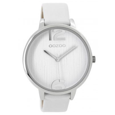 Oozoo C9530 Damenuhr Weiß/Silberfarben 42 mm 8719929001259