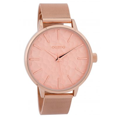 Oozoo C9573 Ladies' Watch Mesh Band Rose Gold Tone/Pink 42 mm 8719929002171