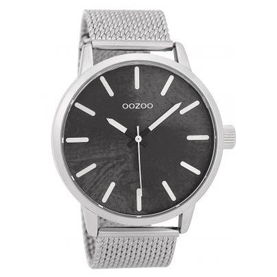 Oozoo C9655 Herrenuhr Schwarz/Silberfarben 45 mm 8719929006124
