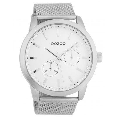 Oozoo C9661 Herrenuhr Weiß/Silberfarben 47 mm 8719929006186