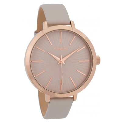 Oozoo C9670 Ladies' Watch with Leather Strap 42 mm Rose/Beige 8719929006278