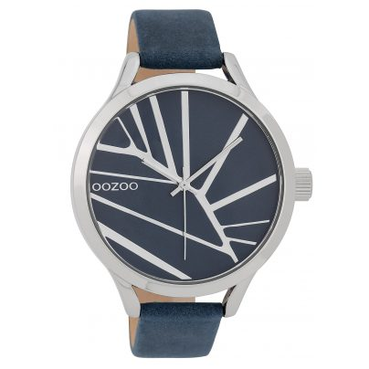 Oozoo C9681 Ladies' Watch with Leather Strap 43 mm Blue 8719929006384