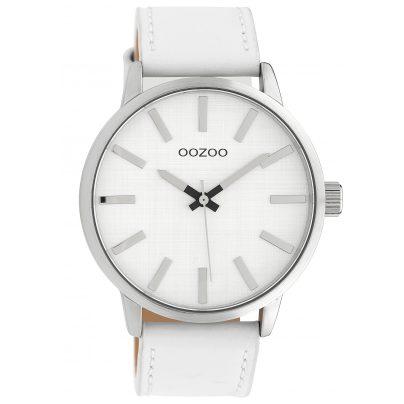 Oozoo C10030 Watch Silver-Tone/White 45 mm 8719929010510