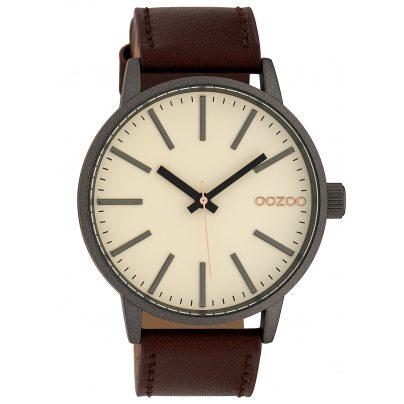 Oozoo C10010 Armbanduhr Creme/Braun 45 mm 8719929010312