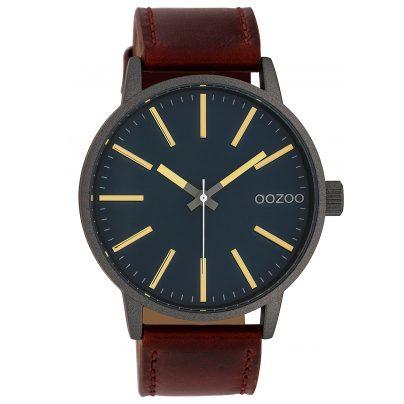 Oozoo C10012 Armbanduhr Dunkelgrün/Braun 45 mm 8719929010336