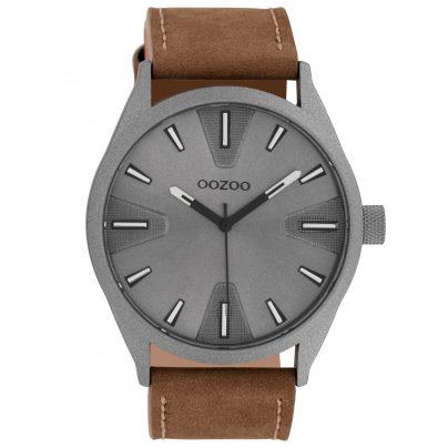 Oozoo C10022 Watch Dark Grey/Brown 45 mm 8719929010435