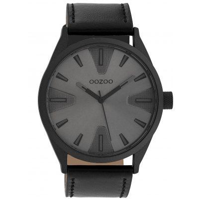 Oozoo C10024 Armbanduhr in Unisex-Größe Anthrazit/Schwarz 45 mm 8719929010459