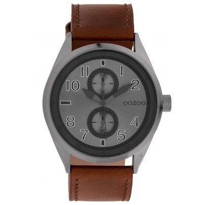 Oozoo C10028 Armbanduhr Anthrazit/Braun 42 mm 8719929010497