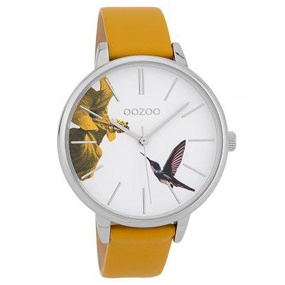 Oozoo C9761 Damenuhr Kolibri Senfgelb/Weiß 42 mm 8719929008845