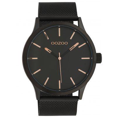 Oozoo C10058 Armbanduhr mit Milanaiseband Schwarz 45 mm 8719929010794