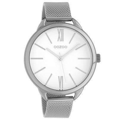 Oozoo C10134 Armbanduhr mit Milanaiseband Weiß/Silber 45 mm 8719929011555