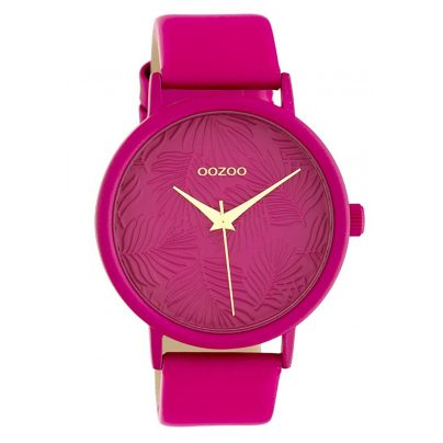 Oozoo C10167 Women's Watch with Leather Strap Pink 42 mm 8719929011883