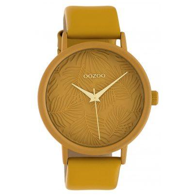 Oozoo C10172 Damen-Armbanduhr Lederband Senfgelb 42 mm 8719929011937
