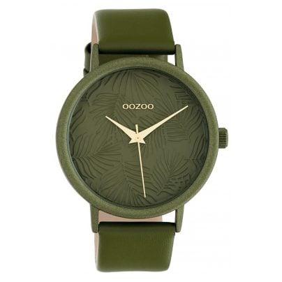 Oozoo C10173 Damenuhr Lederband Grün 42 mm 8719929011944