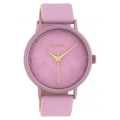 Oozoo C10174 Damen-Armbanduhr Lederband Rosa 42 mm 8719929011951