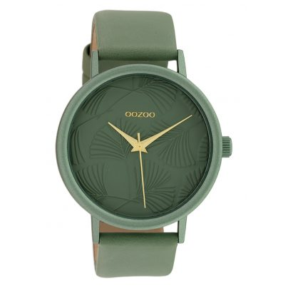 Oozoo C10392 Damen-Armbanduhr mit Lederband 42 mm Aquamarin 8719929015010