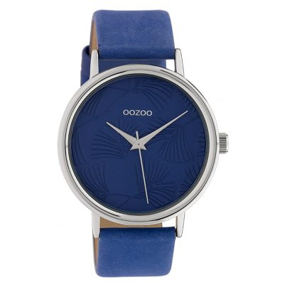 Oozoo C10394 Damen-Armbanduhr mit Lederband 42 mm Dunkelblau 8719929015034