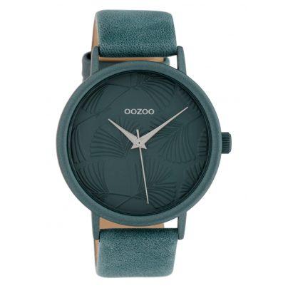 Oozoo C10397 Damenuhr mit Lederband 42 mm Blau 8719929015065