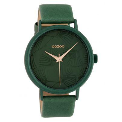 Oozoo C10398 Damenuhr mit Lederband 42 mm Grün 8719929015072