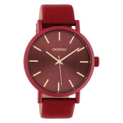 Oozoo C10445 Women's Watch with Leather Strap 42 mm Chilli Pepper 8719929015546