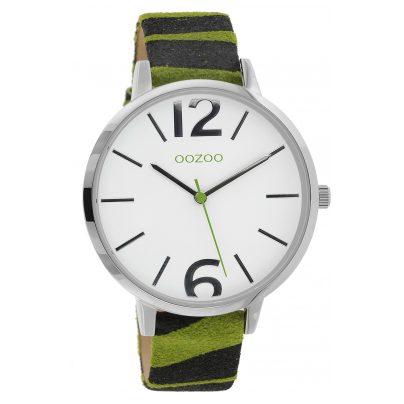 Oozoo C10203 Women's Watch Zebra Green 43 mm 8719929013955