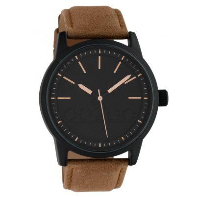 Oozoo C10308 Herren-Armbanduhr mit Lederband Ø 45 mm Braun/Schwarz 8719929014174