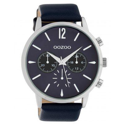 Oozoo C10358 Herrenuhr mit Lederband Ø 48 mm Dunkelblau 8719929014679