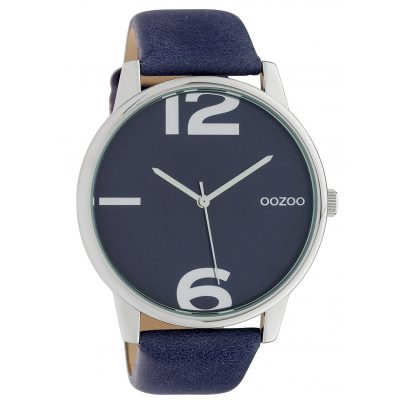 Oozoo C10372 Ladies' Watch with Leather Strap Ø 45 mm Night Blue 8719929014815