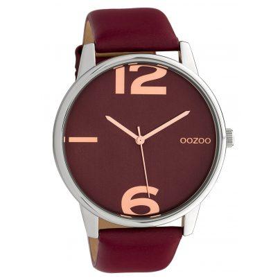 Oozoo C10373 Damen-Armbanduhr mit Lederband Ø 45 mm Weinrot 8719929014822