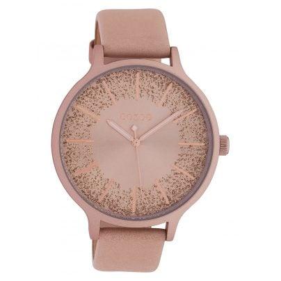 Oozoo C10400 Damenuhr Lederband Ø 45 mm Soft Pink/Rosé 8719929015096