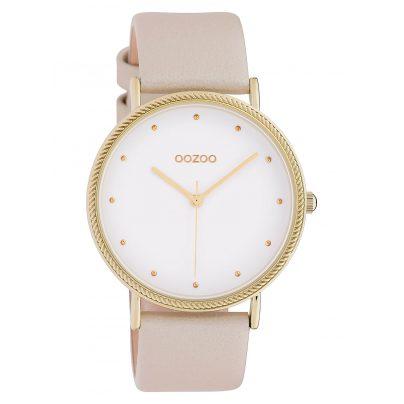 Oozoo C10416 Damenuhr Lederband Ø 40 mm Beige/Weiß 8719929015256