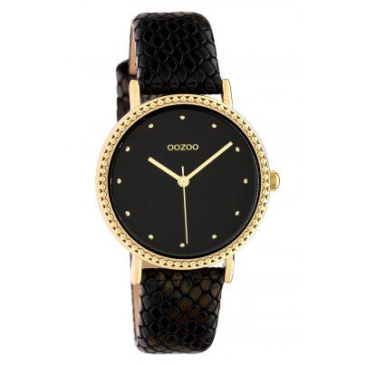 Oozoo C10424 Damen-Armbanduhr Lederband Ø 34 mm Schwarz 8719929015331
