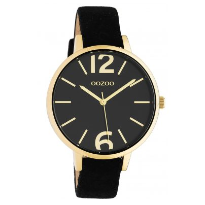 Oozoo C10439 Damen-Armbanduhr Lederband Ø 40 mm Schwarz 8719929015485