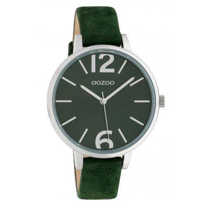 Oozoo C10436 Damen-Armbanduhr Lederband Ø 40 mm Dunkelgrün 8719929015454
