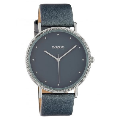 Oozoo C10418 Damen-Armbanduhr Lederband Ø 40 mm Grau 8719929015270