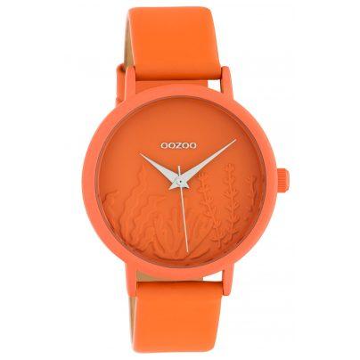 Oozoo C10605 Damen-Armbanduhr mit Lederband Orange Summer Vibes Ø 36 mm 8719929018691