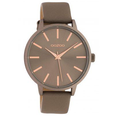 Oozoo C10612 Damen-Armbanduhr mit Lederband Quarz Taupe 42 mm 8719929018769