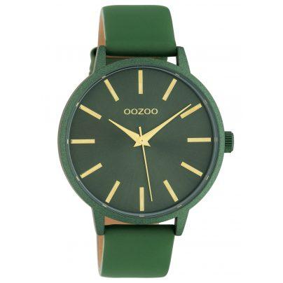 Oozoo C10616 Damenuhr mit Lederband Grün Quarz 42 mm 8719929018806