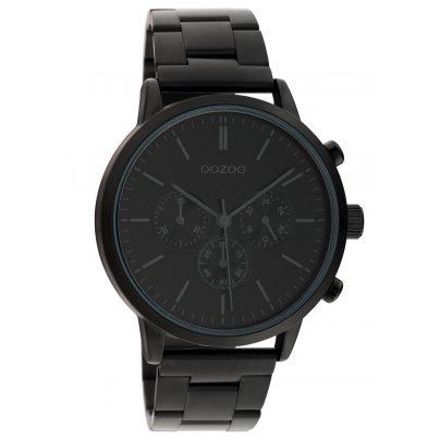 Oozoo C10549 Men's Wrist Watch Chrono Look Stainless Steel Bracelet Black 8719929018134