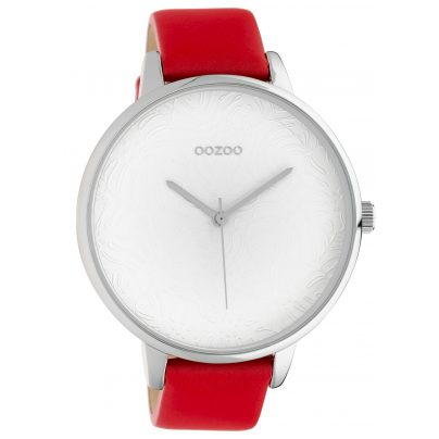 Oozoo C10570 Damenuhr mit rotem Lederband 48 mm 8719929018349