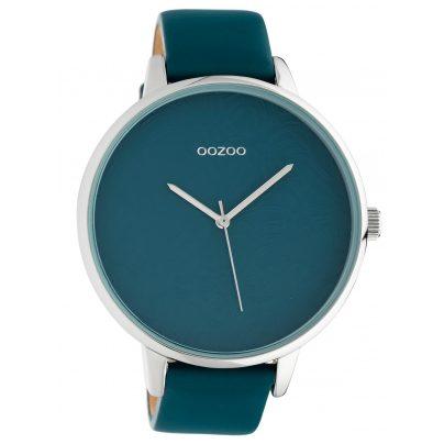 Oozoo C10571 Damenuhr mit Lederband Blaugrün 48 mm 8719929018356