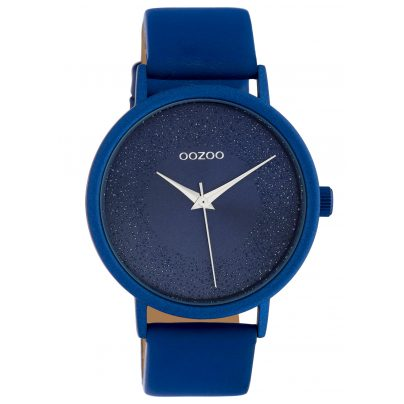 Oozoo C10583 Ladies' Watch with Leather Strap Ø 42 mm Blue 8719929018479