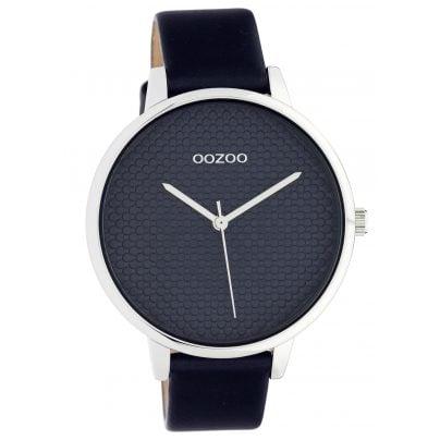 Oozoo C10594 Damenuhr mit Lederband 42 mm Dunkelblau / silber 8719929018585