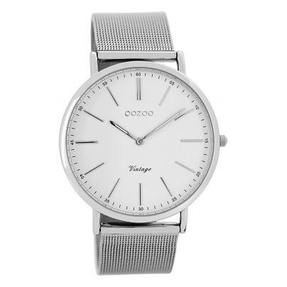 Oozoo C7385 Vintage Armbanduhr Weiß/Silber 40 mm 9879012505626