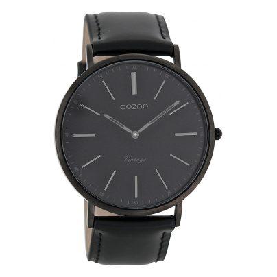 Oozoo C7301 Vintage Armbanduhr Schwarz 44 mm 9879012502076