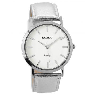 Oozoo C7782 Damenuhr Vintage Silberfarben 38 mm 9879012519654