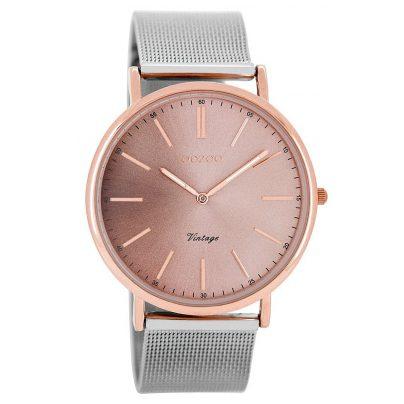 Oozoo C8158 Vintage Unisex Watch Silver / Rose 40 mm 9879012512648