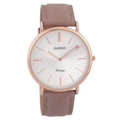 Oozoo C9332 Damen-Uhr Vintage Rosé/Altrosa/Silberfarben 40 mm 8719929001716