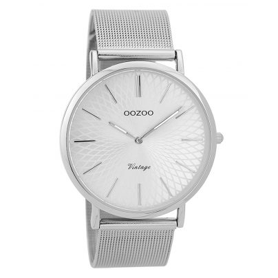 Oozoo C9340 Damen-Armbanduhr Vintage Silberfarben 40 mm 8719929001792