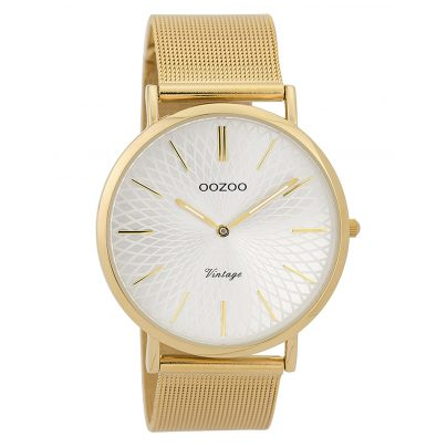 Oozoo C9346 Ladies' Wristwatch Vintage Gold-Coloured/Silver-Coloured 40 mm 8719929001853